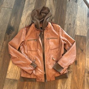 Collection B Faux Leather Jacket